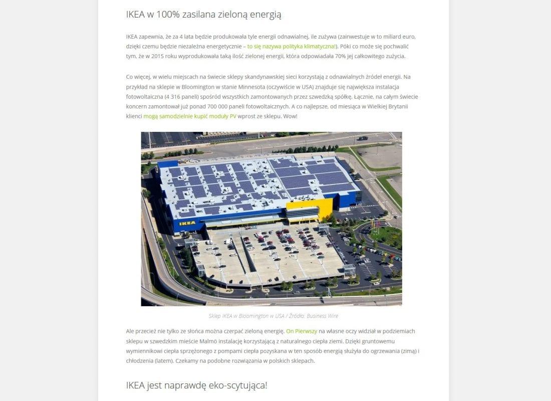 rolety zewnętrzne IKEA zielona energia